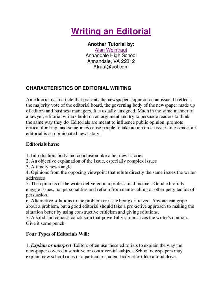 High Quality Doc How To Write An Editorial Essay How To Write An Resume Examples Thesis  Writing Chapter