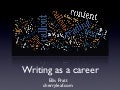 Writing as a career in IT