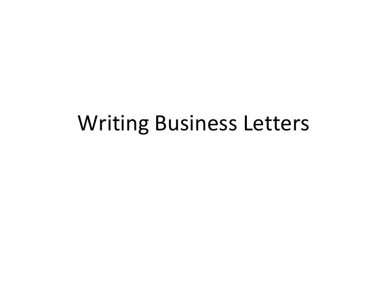 how to write a business letter ppt