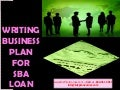 Writing business plan for small business administration loan