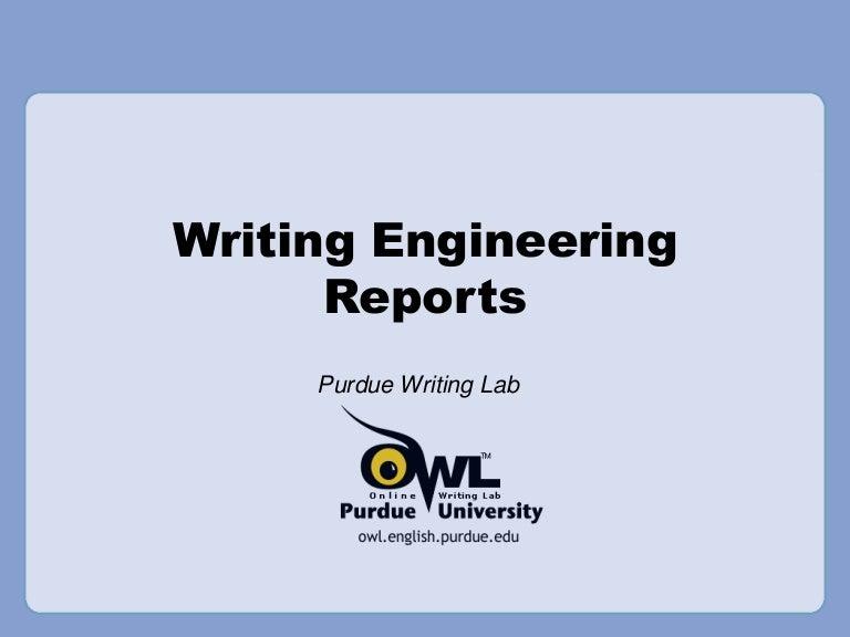 engineering writing format