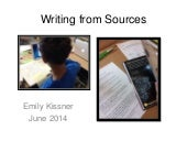 Writing from Sources, Part 2