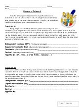 Independent And Dependent Variables In Science Worksheet ...