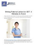 Writing Referral Letters for OET: 3 Mistakes to Avoid
