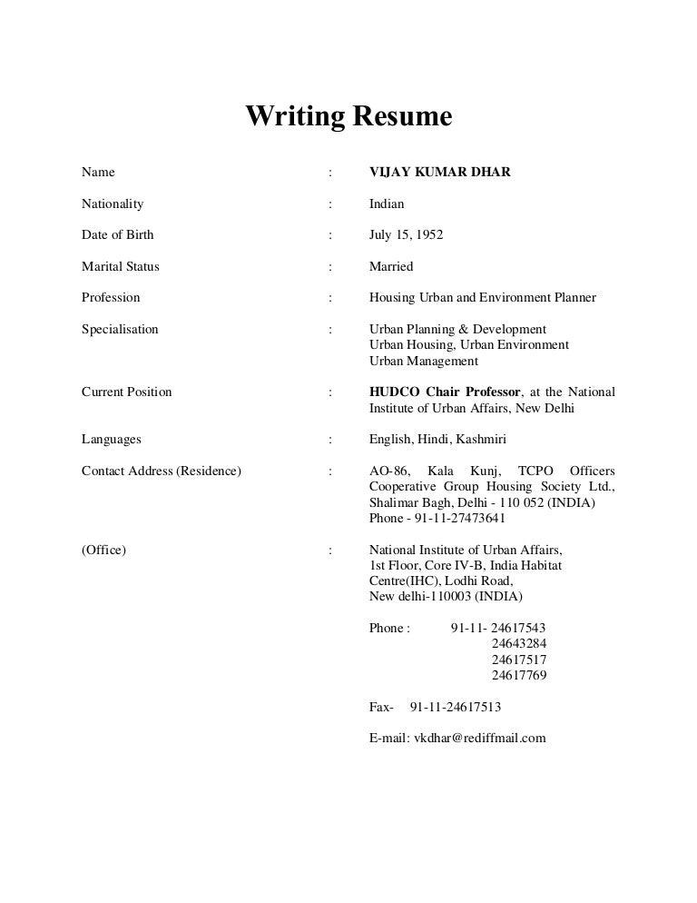 SlideShare  How Write A Resume