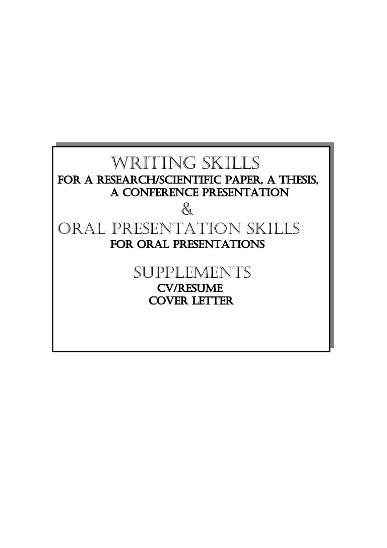 Research Thesis Preparation Oral Presentations Cv Resume Cover Let