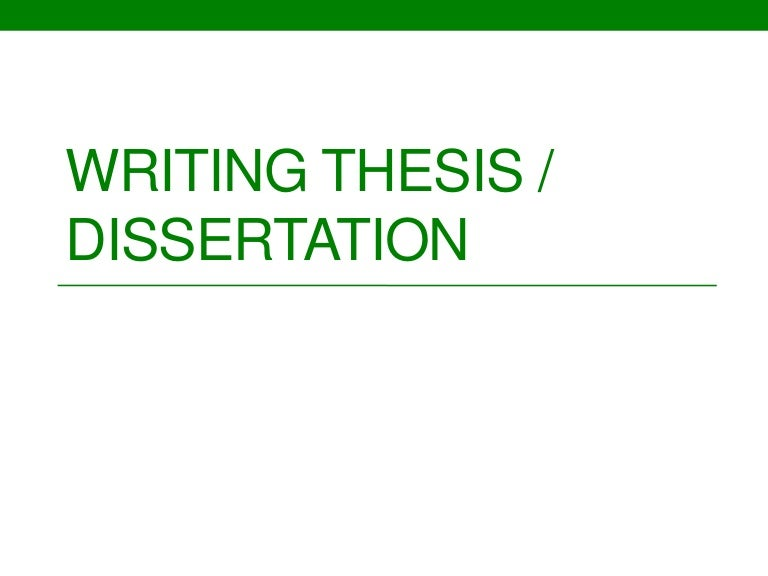 How to write a discussion chapter in a thesis