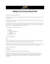 Writing Your First Ever Business Plan