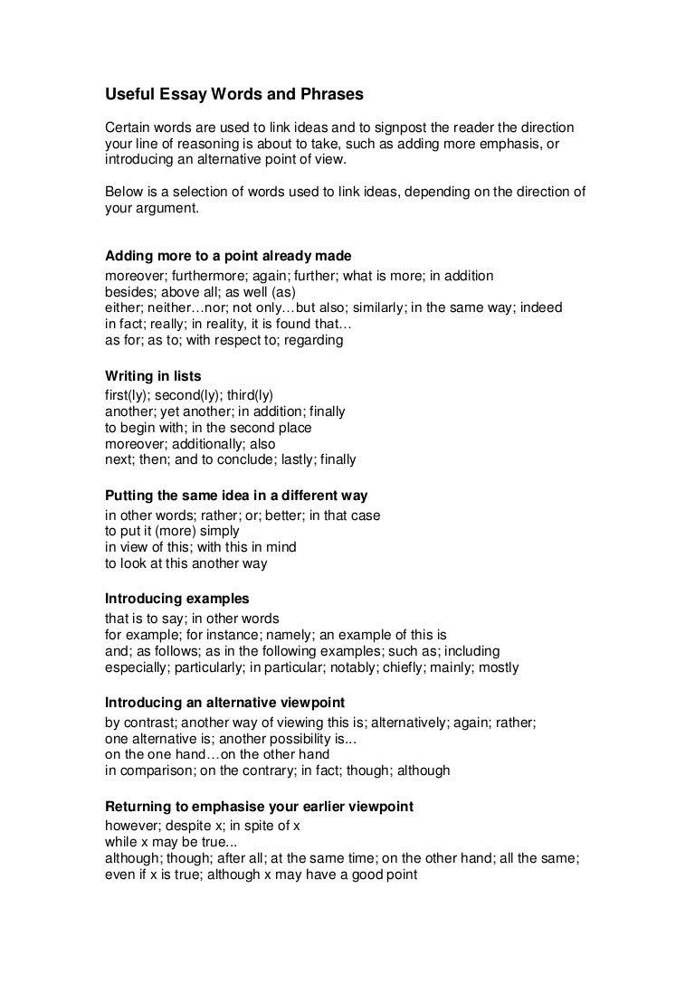 Argumentation Essay Argument Essays Topics For High Schools Useful  Argumentative Essay Words And Phrases