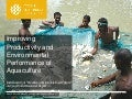 Improving Productivity and Environmental Performance of Aquaculture