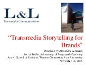 "What is ""Transmedia Storytelling for Brands""?"