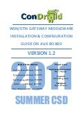 Condroid WSN/DTN Gateway - Middleware Installation & Configuration Guide on ALIX Board