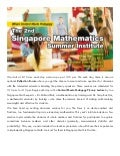 MCI Worchester State University Singapore Math Institute
