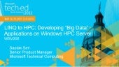 LINQ to HPC: Developing Big Data Applications on Windows HPC Server