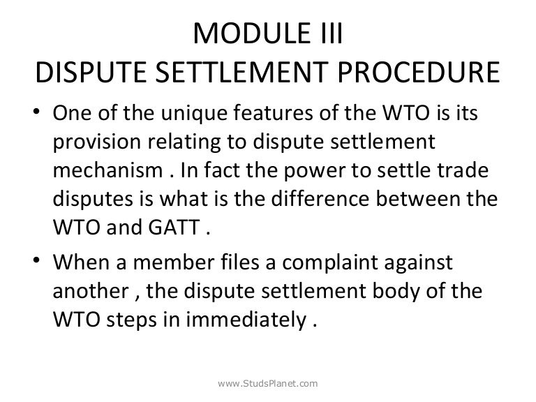 wto dispute settlement body case At a wto dispute settlement body meeting in geneva barely five days after issuing the section 301 report, the ustr let it quietly be known that china's policies and practices did not implicate any trade-related investment measure violations china's practices were perfectly compliant with the law.
