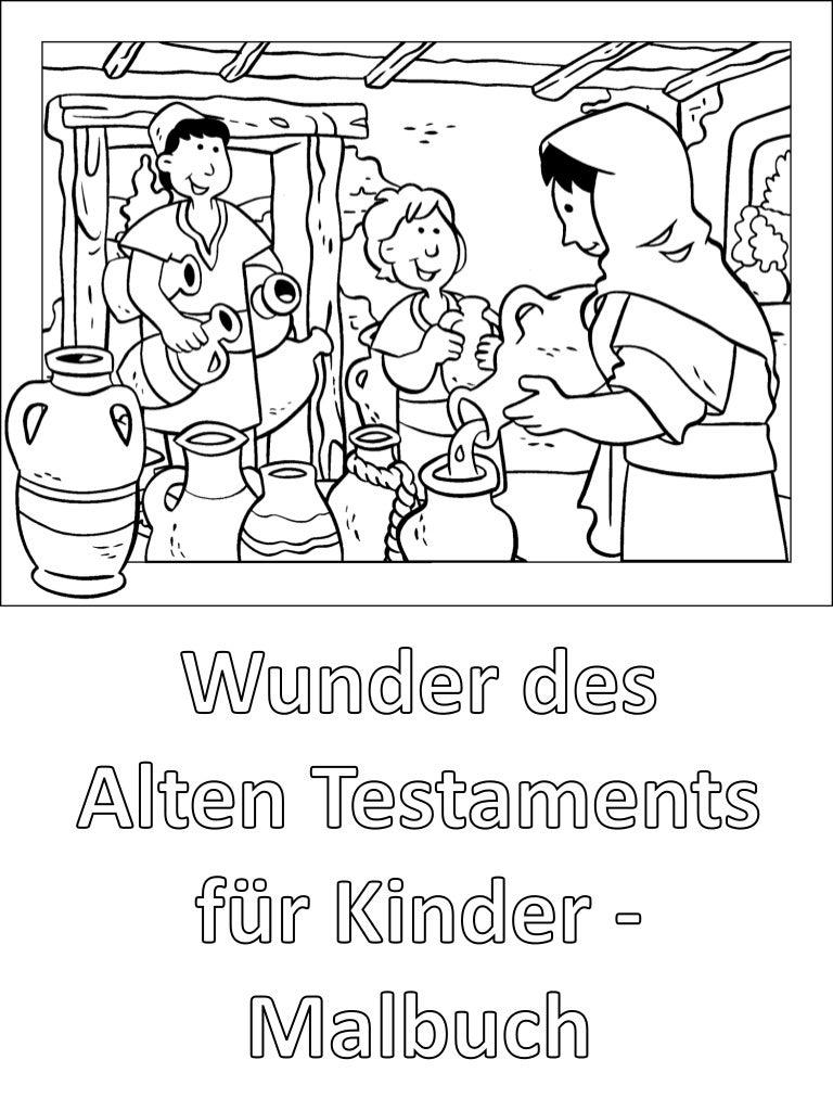 Wunder des Alten Testaments für Kinder - Malbuch