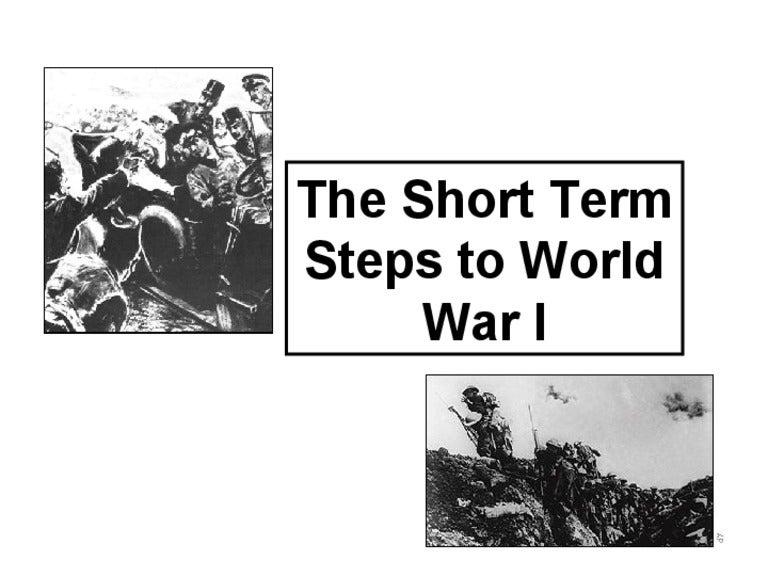 world war 1 causes