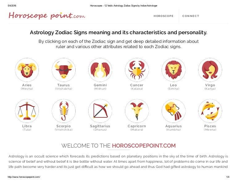 Www Horoscopepoint Com 12 Astrology Zodiac Signs Information