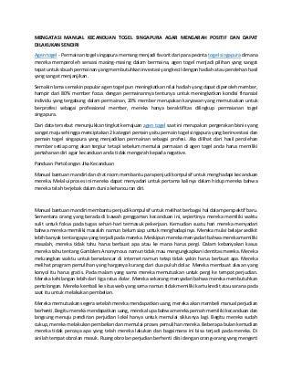 www.togelkita.org agen togel - mengatasi manual kecanduan togel singapura agar mengarah positif dan dapat dilakukan sendiri