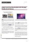 www.batteryfast.co.uk-Apple Launches New MacBook Air Models, MacBook Air Review
