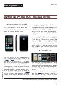 Buying an iPhone 3GS , The big pitfalls