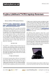 Www.batteryfast.co.uk fujitsu-lifebook-th701-laptop-reviews