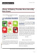 www.batteryfast.co.uk-iPhone 4S Battery Troubles Now Joined By New Issues