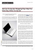 Www.batteryfast.co.uk - Various Computer Shopping Tips Help You Selecting A New Computer