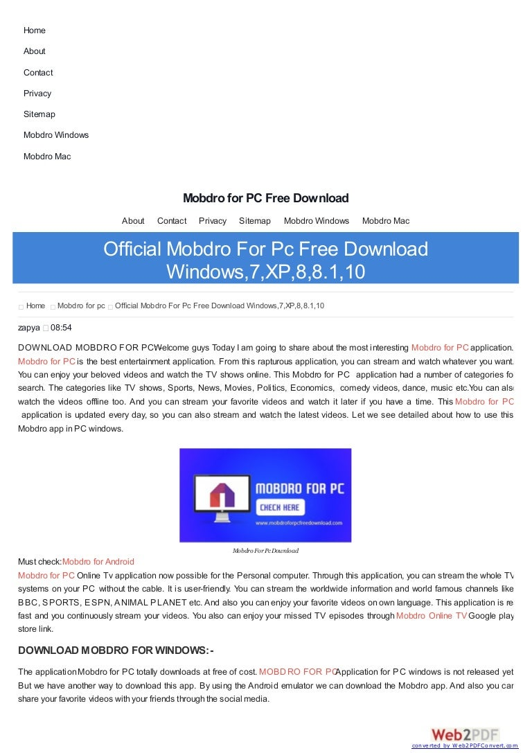 mobdro pc windows download zapya free