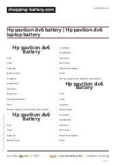 Www.shopping battery.com-hp-pavilion-dv6-battery