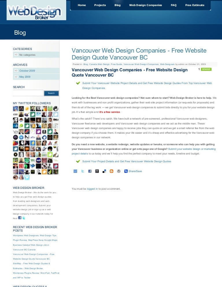 Vancouver Web Design Companies Free Website Des