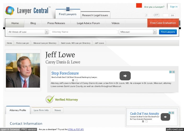 Jeff Lowe Carey Danis & Lowe