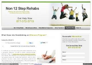 Www non12steprehabs org_blog_2013_establishing_an_aftercare