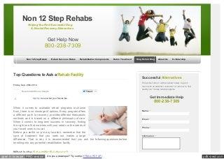 Non 12 Step Treatment