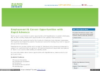 Www rapidadvance com_careers_htm
