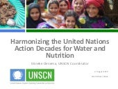 Harmonizing the United Nations Action Decades for Water and Nutrition