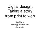 Taking a story from print to web