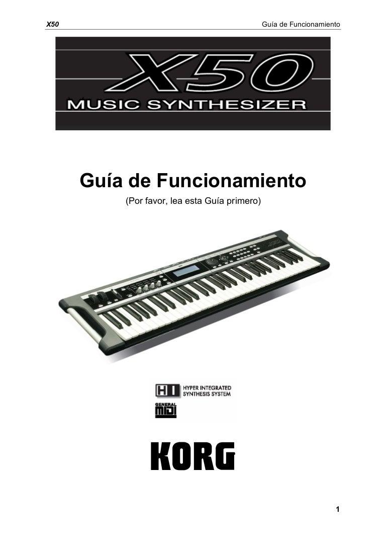 manual del korg x50 en español
