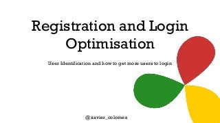 CRO for Registration and Login - Conversion World Presentation