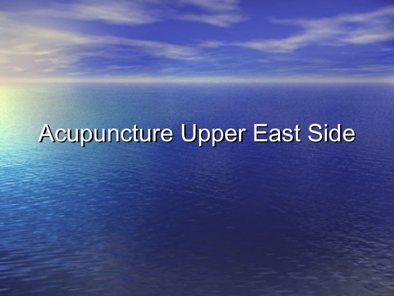 Acupuncture Upper East Side