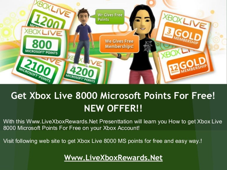 Free Giveaway - Xbox Live 8000 MS Points DLC Redeem Codes!!