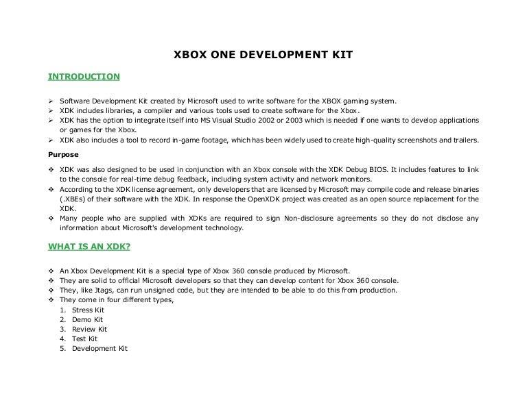 Xbox one development kit