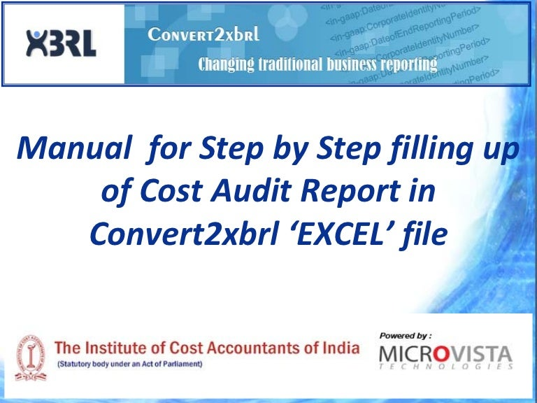 Cost audit report of a company