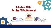 Modern Skills for the IT Professional