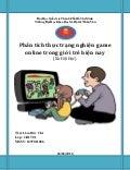 Phân tích thực trạng nghiện game online trong giới trẻ hiện nay