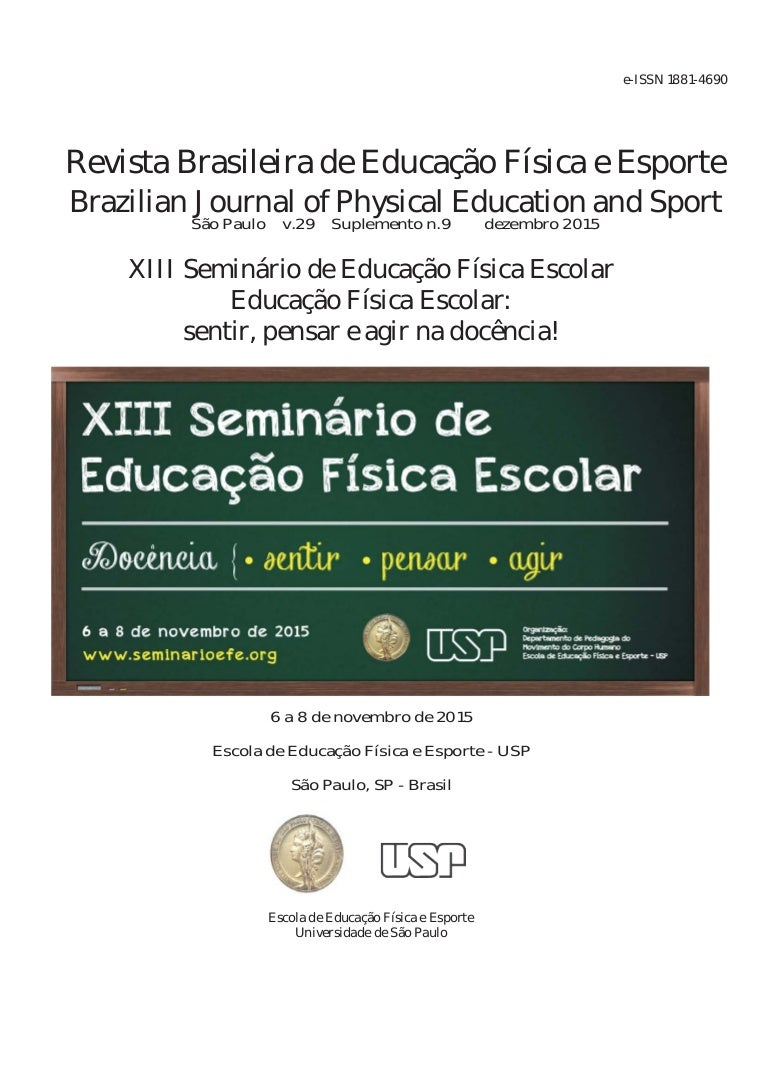 ad24b35b30a Anais do XIII Seminário de Educação Física Escolar. RBEFE - Suplement…