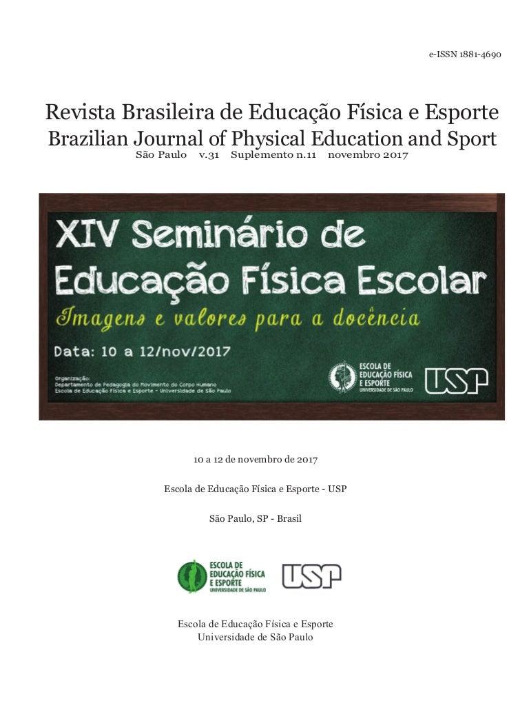 XIV Seminário de Educação Física Escolar - 2017 01b423deb2d08