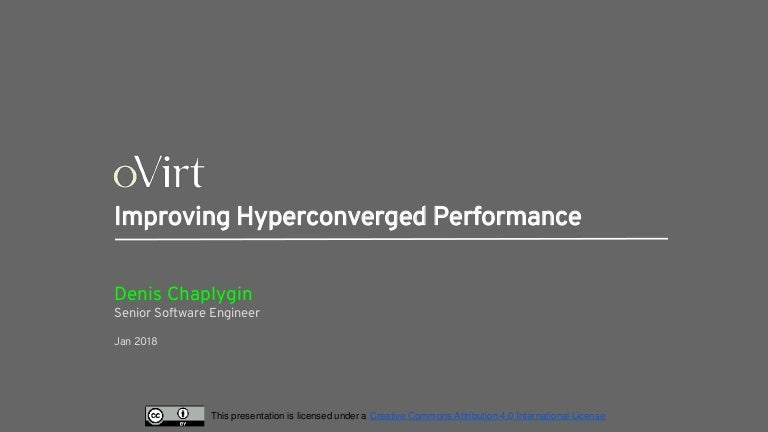 Improving hyperconverged performance