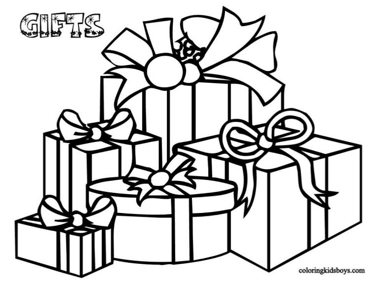 Christmas Presents Coloring Pages Gift