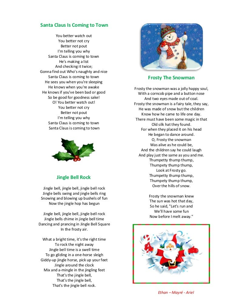 my favorite christmas songs lyrics